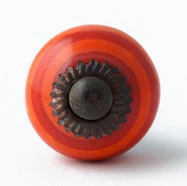 Türknauf rund, orange/rot, Ø 3 cm