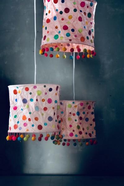 Papierlampe 'Smarties', multicolor, Ø 25 cm, H 28 cm