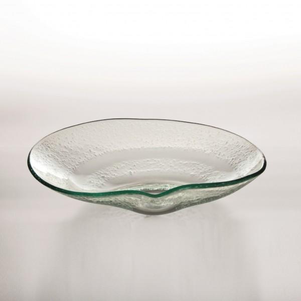 "Glasschale ""Ishoj"", klar, L 24 cm, B 21 cm, H 5 cm"