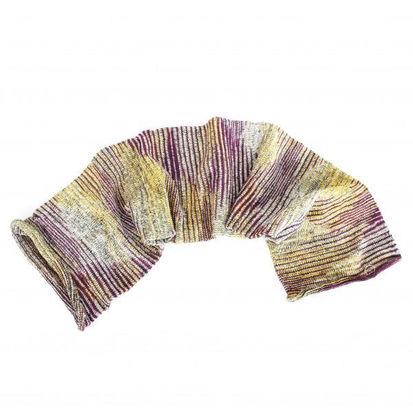 "Schal ""Magic Scarf"", senf/aubergine, L 65 cm, B 20 cm"