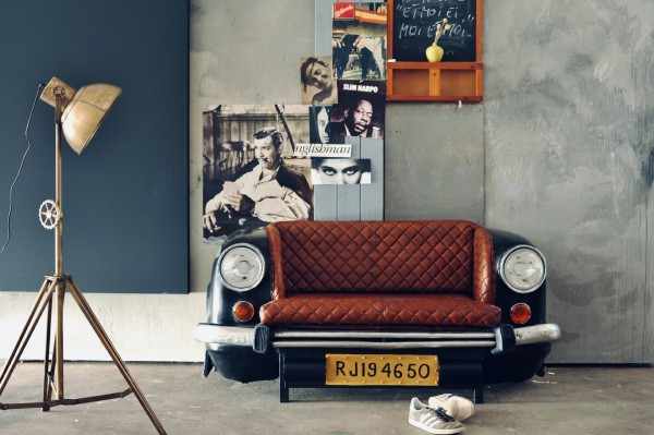 Sofa 'Ambassador Classic', Front, 2-Sitzer, schwarz, T 70 cm, B 160 cm, H 75 cm