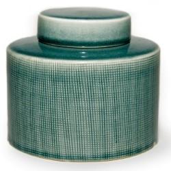 """Vase """"Liang"""" mit Deckel, grün, Ø 15 cm, H 13 cm"""