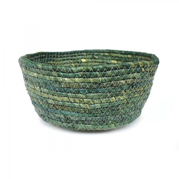Korb 'Perno' L, grün, Ø 25 cm, H 10 cm