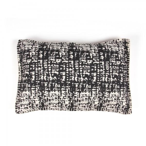 Kissen 'Creca', schwarz, weiß, T 40 cm, B 60 cm