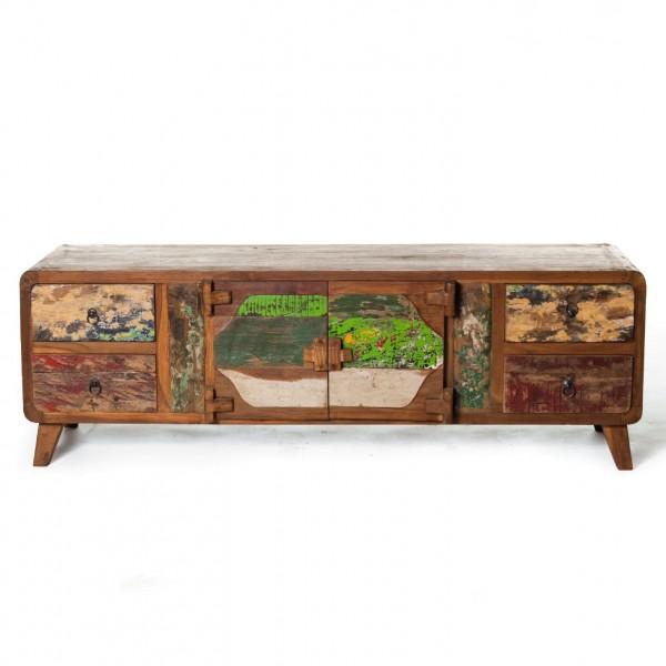 "Sideboard ""Sampan"", braun/multicolor, L 50 cm, B 150 cm, H 50 cm"