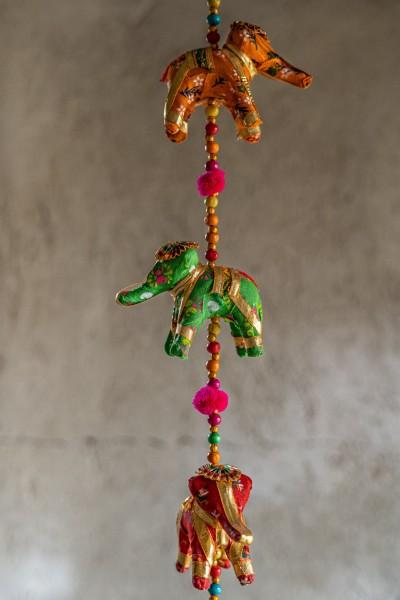 5er Girlande 'Elefant', multicolor, H 85cm