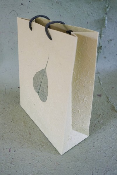Tasche Bodhi Blatt, oliv, T 10 cm, B 25 cm, H 30 cm