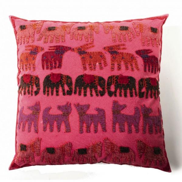 Kissenhülle 'Elefant', pink, L 60 cm, B 60 cm