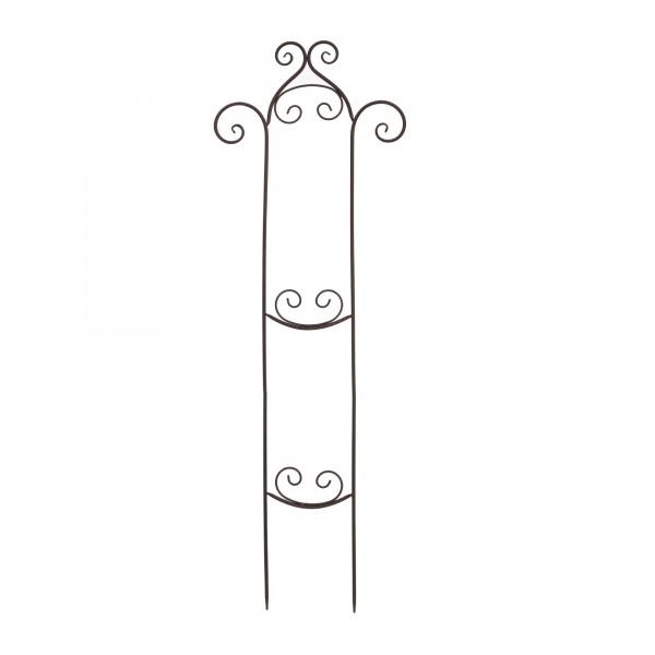 Rankhilfe aus Eisen, grau, T 43 cm, H 126 cm