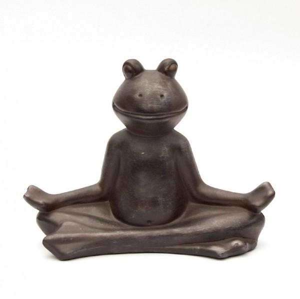 "Frosch ""Yoga"", braun, L 12 cm, B 33 cm, H 25 cm"