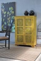 Schrank 'Mewar', gelb, T 40 cm, B 96 cm, H 140 cm