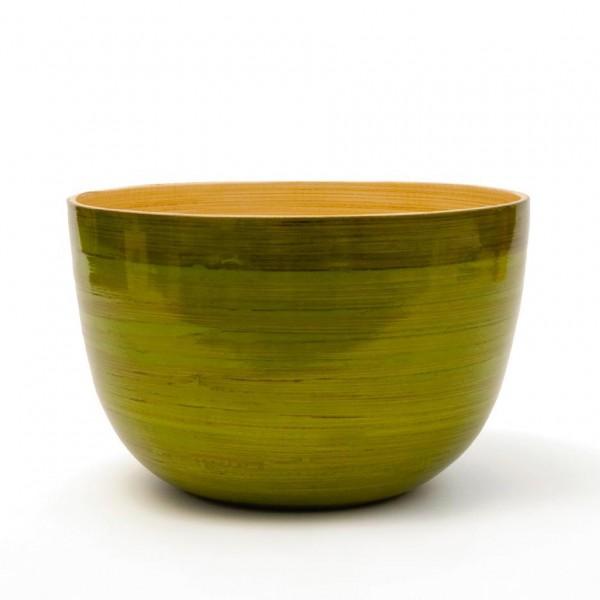 Bambusschale, grün, H 13,5 cm, Ø 22 cm
