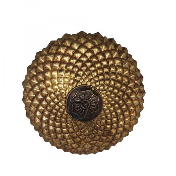Anhänger Eichel, gold, T 18 cm, B 18 cm, H 22 cm