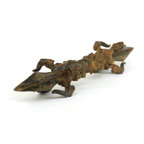 Doppeldolch 'Vajra', bronze, T 32 cm, B 4,5 cm, H 4,5 cm