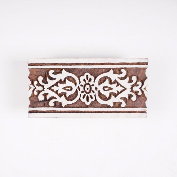 Holzstempel, handgeschnitzt, B 8 cm, H 16,5 cm
