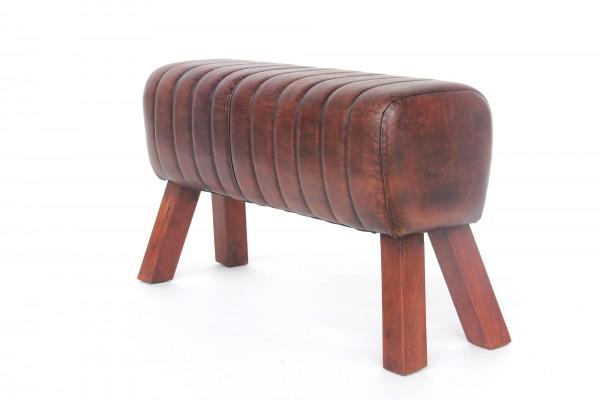 Sitzbock 'Dexter', cognac, natur, T 29 cm, B 94 cm, H 54 cm