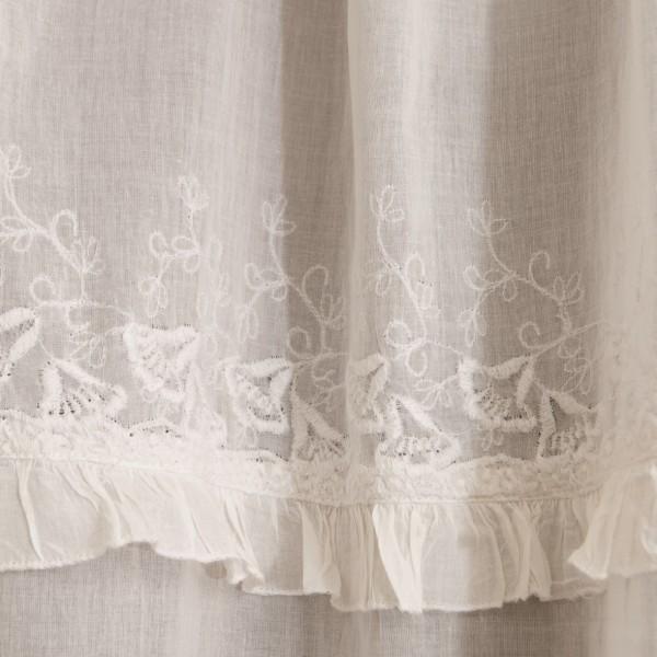 Baumwoll-Vorhang, mit Band, weiß, B 110 cm, H 240 cm