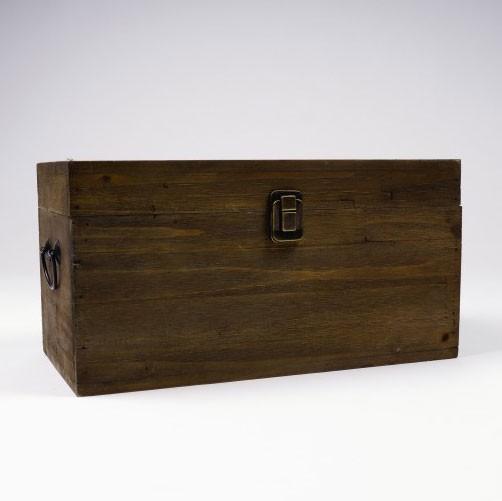 Holztruhe, braun, L 17 cm, B 33 cm, H 17 cm