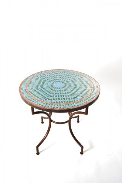 Mosaiktisch rund, grüntöne, Ø 80 cm, H 72 cm