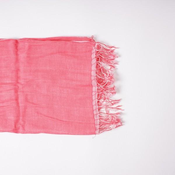 Wendeschal, aus Baumwolle, koralle, L 175 cm, B 50 cm