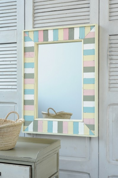 Holzspiegel 'Dokkum', multicolor, B 60 cm, H 80 cm