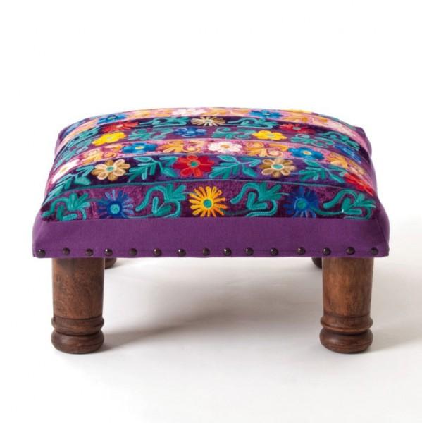 "Fusshocker ""Flower Bar"", multicolor, L 40 cm, B 40 cm, H 22 cm"