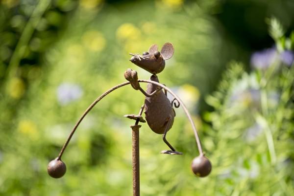 Balance-Akt 'Maus Merlin', rostbraun, B 25 cm, H 110 cm