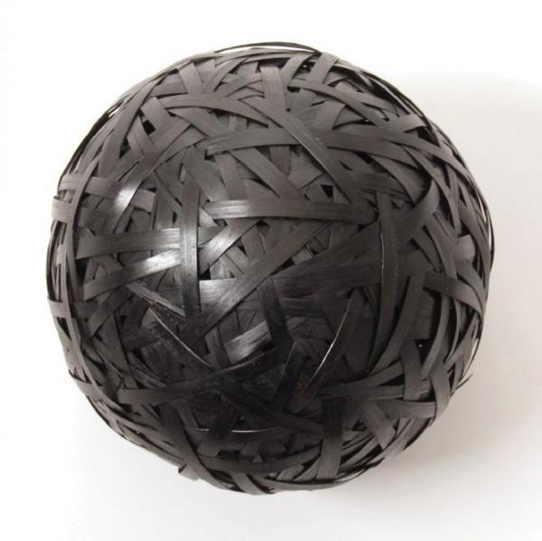 Dekoball Bambus, schwarz, Ø 15 cm