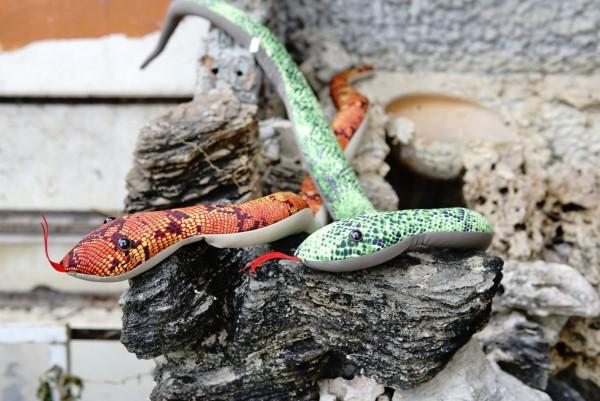 Sandtier 'Schlange', multicolor, Ø 2,5 cm, L 60 cm