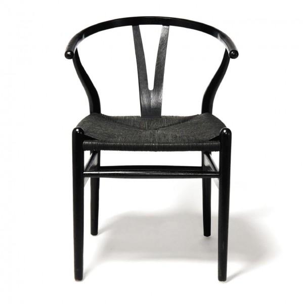 "Stuhl ""Ménerbes"", schwarz, H 78 cm, B 56 cm, T 50 cm"