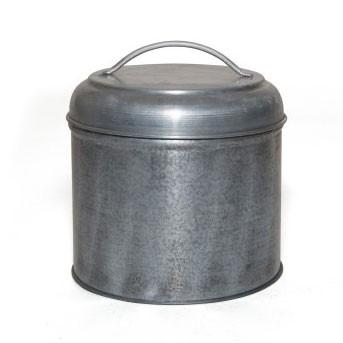 Aufbewahrungsdose aus Metall L, silber, Ø 16 cm, H 17 cm