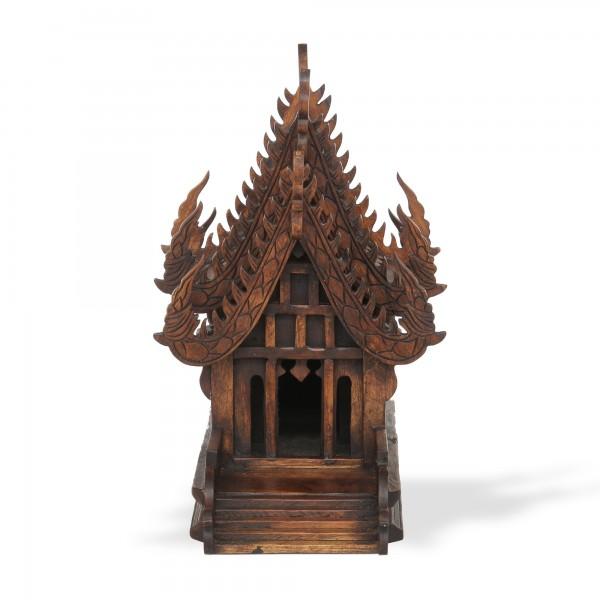 Geisterhaus thailändisch S, dunkelbraun, T 52 cm, B 28 cm, H 43 cm