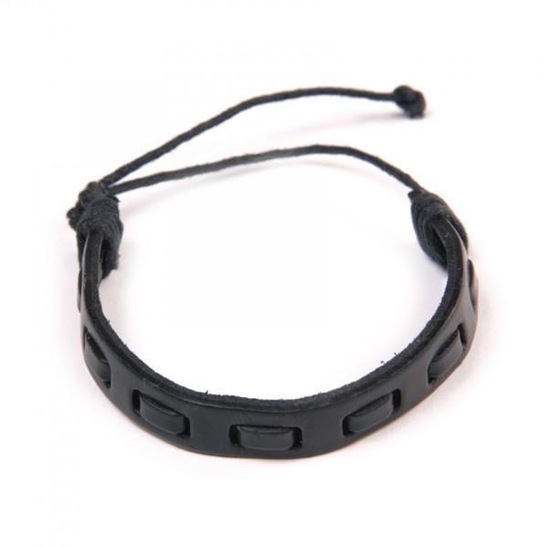 Armband 'Moritz', aus Leder, schwarz