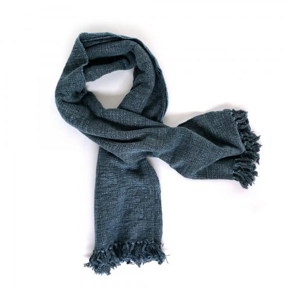 Throw 'Nilgiri', dunkel blau, T 128 cm, B 180 cm