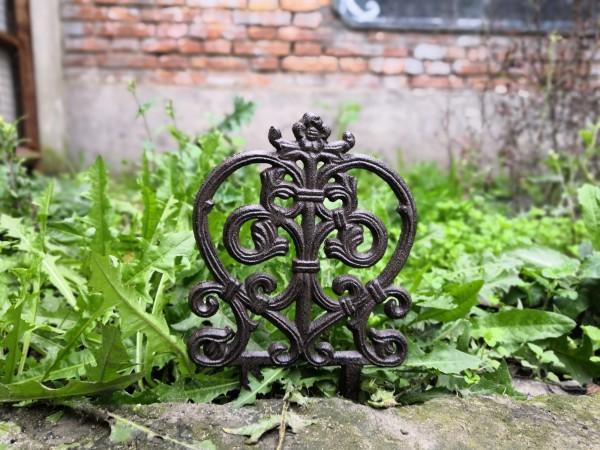 Beetabgrenzer 'Herz', antik-rost, B 16 cm, H 27 cm