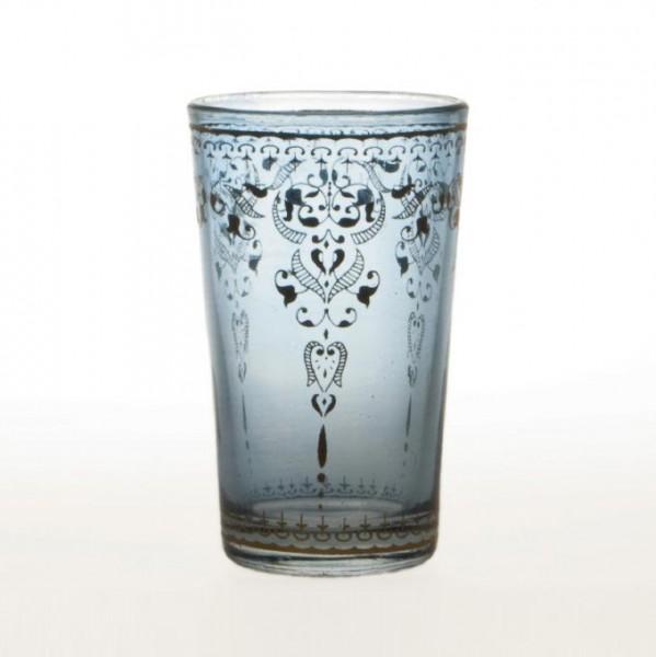 Teeglas, dunkelblau, H 8,5 cm, Ø5 cm