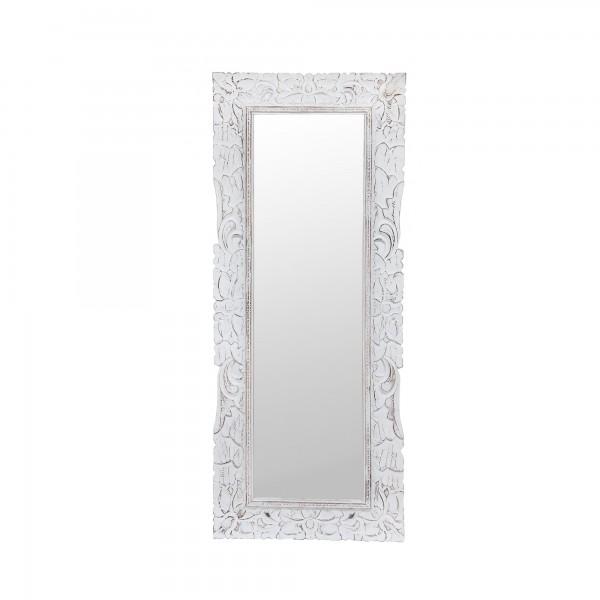 Spiegel 'Ornament', weiß gekälkt, T 3 cm, B 50 cm, H 120 cm