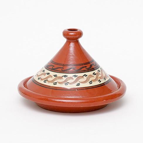 "Tajine ""Rabat 1"", braun, glasiert, H 25 cm, Ø 34 cm"