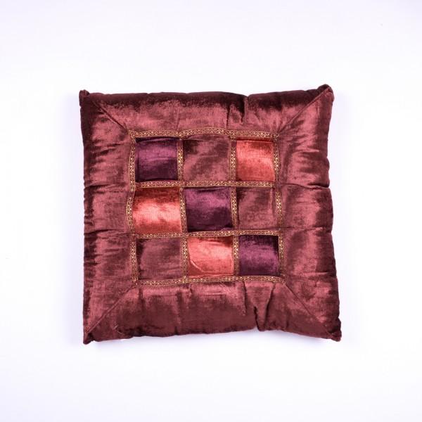 Kissen, burgunder, L 40 cm, B 40 cm
