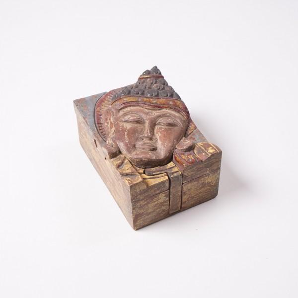 """Truhe """"Buddhaversteck"""", aus Suarholz, L 9 cm, B 12 cm, H 7 cm"""