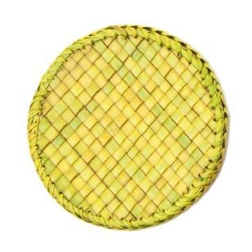 Untersetzer aus Palmblättern, grün, Ø 9,5 cm