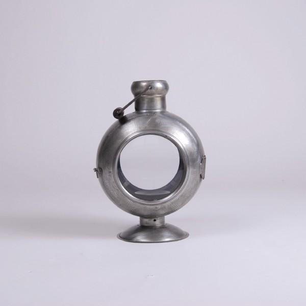 "Laterne ""Bullauge"", silber, B 23 cm, H 34 cm"