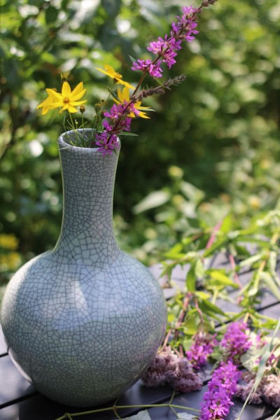 Keramikvase 'Craquelé', Ø 21 cm, H 34 cm