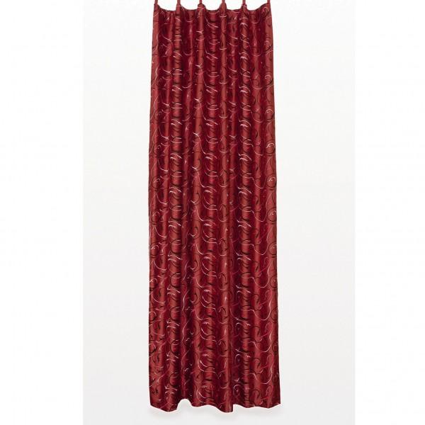 Seidenvorhang mit Schlaufe, weinrot, L 240 cm, B 130 cm