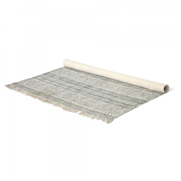 Teppich 'Diken', braun, weiß, T 140 cm, B 200 cm