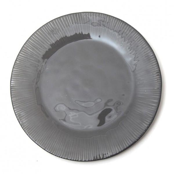 """Salatteller """"Organic"""", dunkelgrau, H 2 cm, Ø 22,5 cm"""