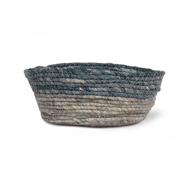 Korb 'Bella' L, türkisgrün, grau, Ø 25 cm, H 10 cm