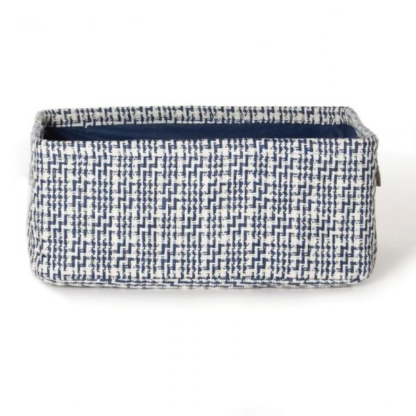 """Aufbewahrungsbox """"Namur"""", weiß/blau, L 22 cm, B 32 cm, H 15 cm"""