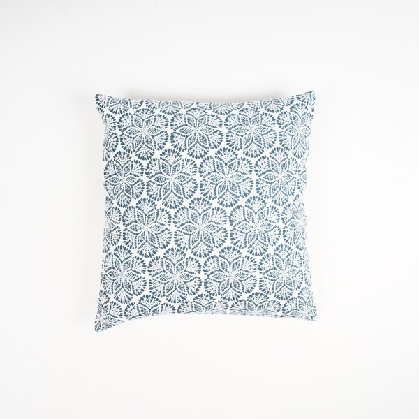 """Kissenhülle """"Frost"""", blau/weiß, L 40 cm, B 40 cm"""