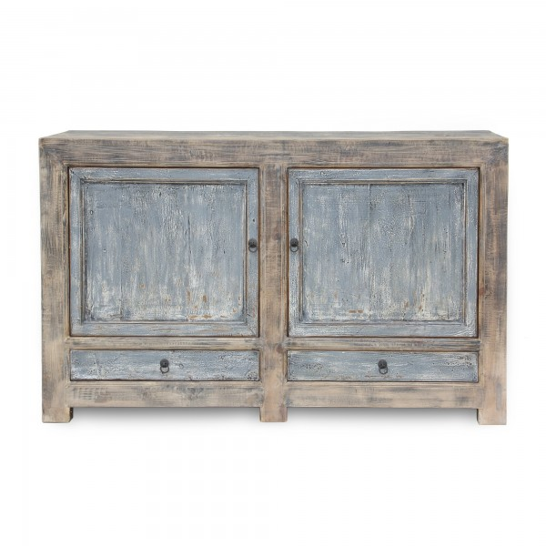 Sideboard, 2 Schubladen, 2 Türen, blau, T 42 cm, B 150 cm, H 90 cm